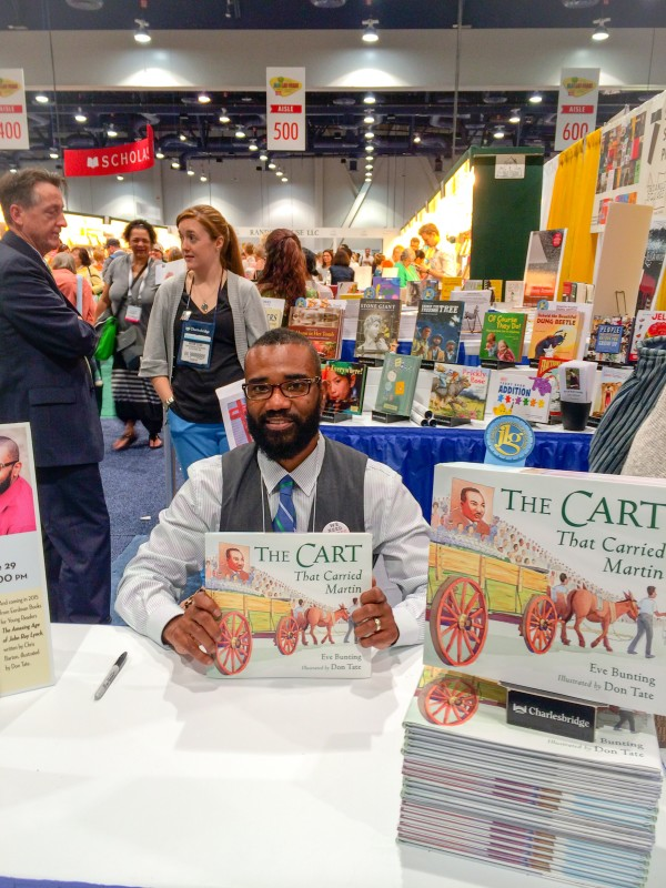 Signing THE CART with my Charlesbridge peeps!